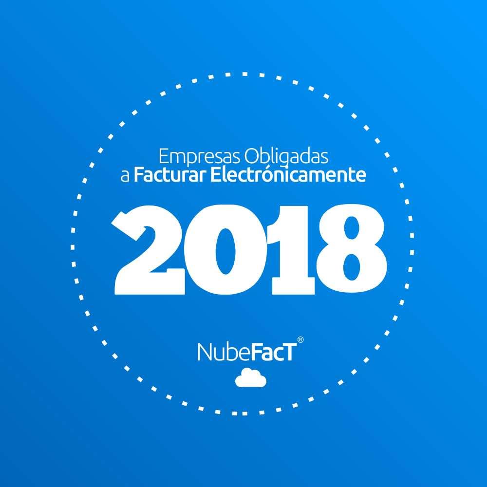 Empresas obligadas a la emsion electronica 2018