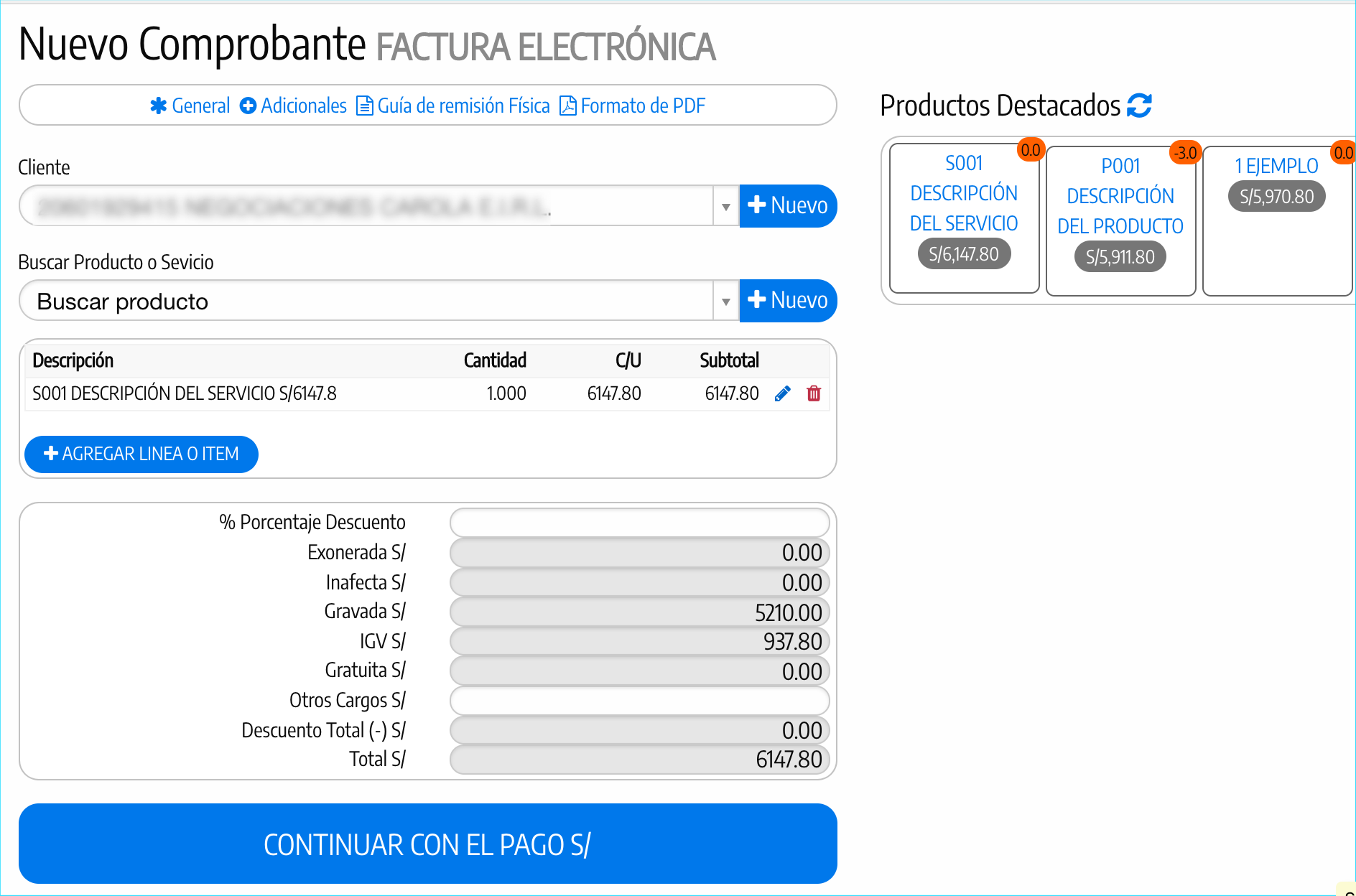 Reseller factura electronica captura 3