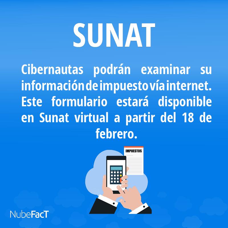 Sunat cibernautas podran examinar su informacion de impuesto via internet